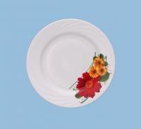 Тарелка 240 мелкая Праздничная гербера