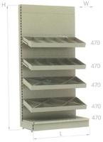 Стеллаж с конфетными полками металл L=1000 Stahler