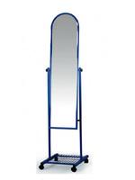 Зеркало напольное 390х410х1590  рама - черная / серебро / хром