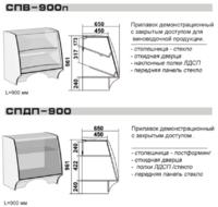 Прилавки СПВ-900п, СПДП-900