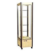 Кондитерская холодильная витрина Полюс R400Свр Carboma (шоколадно-бежевый)