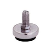 Подпятник 10 мм метал. регулир., хром