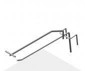 Крючок штыревой 175 мм с ценникодержателем
