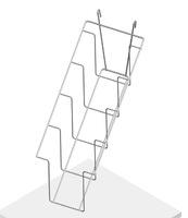 Полка наклонная 4 ячейки для колготок