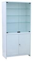 Шкаф 2-ух ств. стекло/металл ШМС-2-Р  с регулируемыми опорами