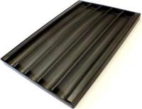 Противень багетный алюминиевый  600x400 мм перфорированный