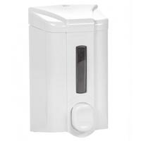 Дозатор для жидкого мыла 500 мл с индикатором бело-серый