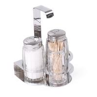 Набор для специй (соль, перец, зубочистки)