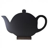 Меловая доска «Чайник» 380х245 мм на деревянной подставке