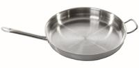 Сковорода Luxstahl с двумя ручками 400/55 из нержавеющей стали